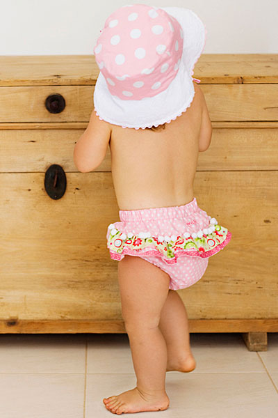 Pink Babies bloomers and hat
