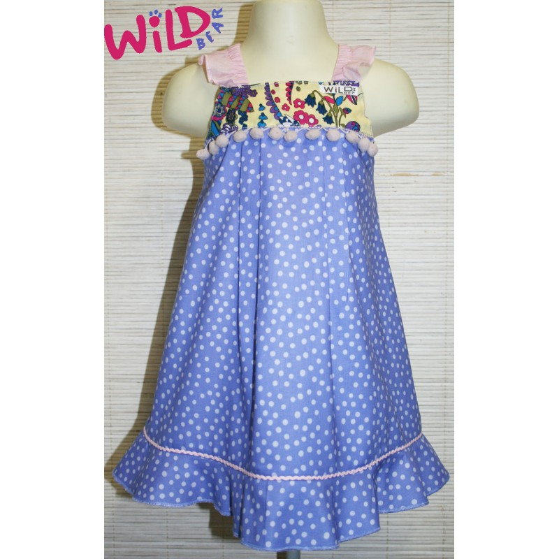 Ellodie Ruffle Sleeve Babydoll Dress - Wild Bear Children's Wear