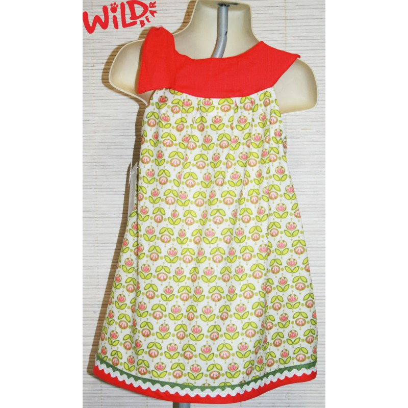 Pink Tulip Te Shoulder Lu Lu Dress - Wild Bear Children's Wear
