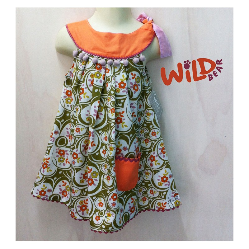 Emmi Tie Shoulder Lu Lu Dress - Wild Bear Children's Wear