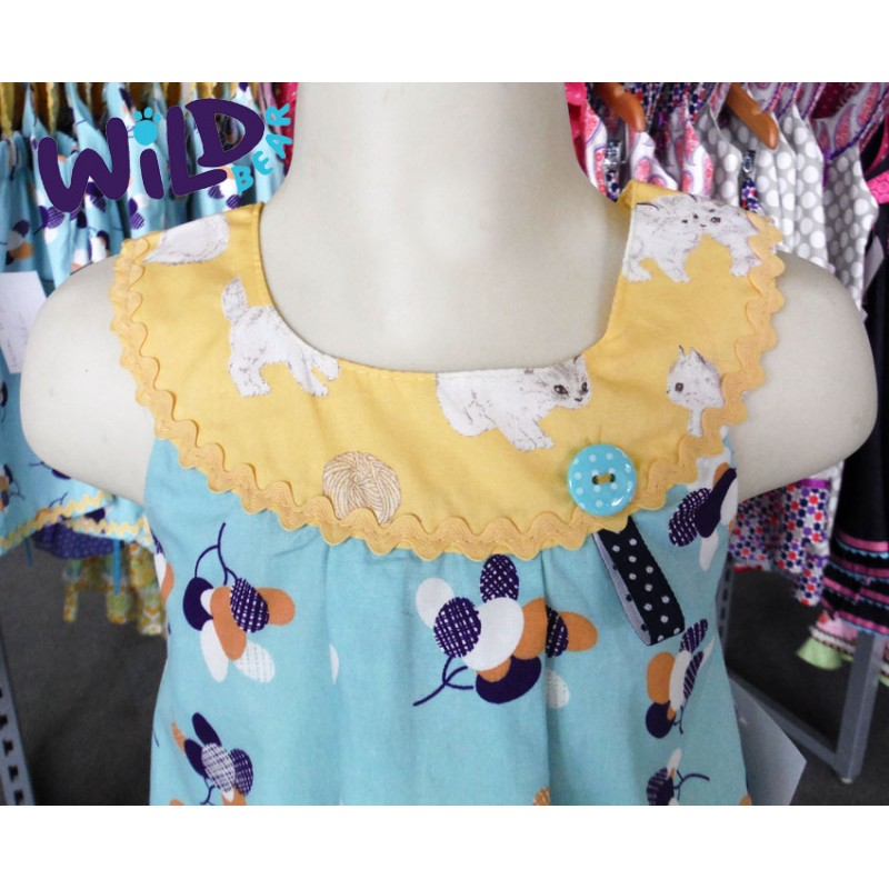 Lemon Kitty Lu Lu Dress - Wild Bear Children's Wear